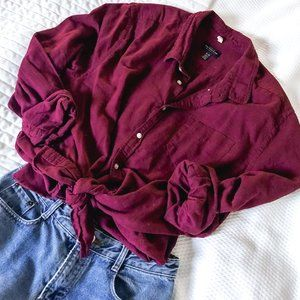 Burgundy Long Sleeve Button Down | CPO Provisions